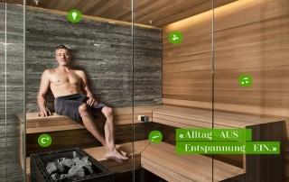 Saunabedienung SmartSPA mit Sprachsteuerung