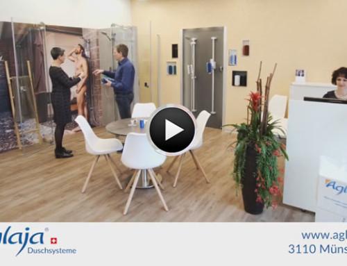 Aglaja Duschsysteme – neue Ausstellung in Münsingen