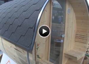 Die Fass-Sauna aus Arvenholz