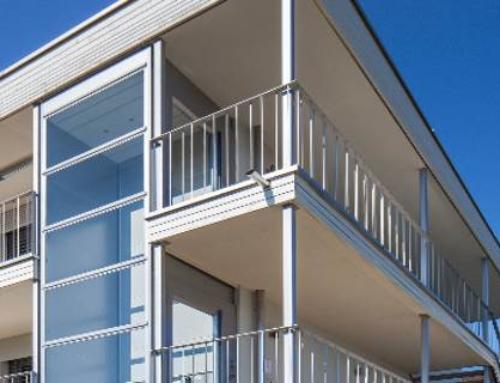 Senkrechtlift-Individuelles Design, geringer baulicher Aufwand