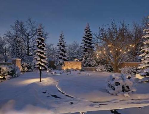 Winterzauber mit leuchtendem Ambiente