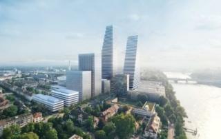 Über 13000 Tonnen Bewehrungsstahl für neuen Roche-Tower
