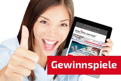 Gewinnspiele auf bauschweiz.ch das Portal für Bauen + Wohnen