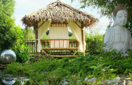 Auszeit unter Bambus