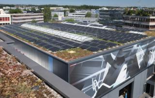 Grösste Solaranlage der Stadt Opfikon eröffnet
