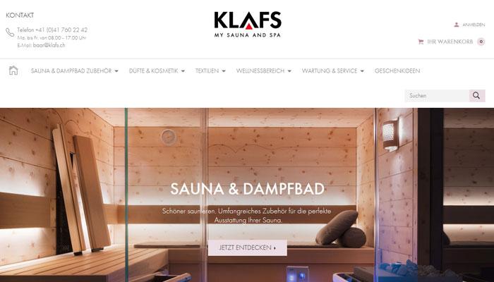 Klafs Online Shop