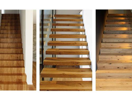 Treppen-Maßanzug aus Parkett