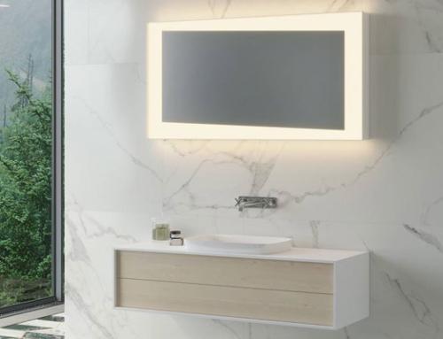 Move – ein Spiegelschrank mit durchgehender Schiebetür