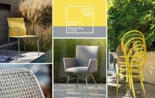 Gartenmöbel in den Trendfarben 2021 «grau und gelb»