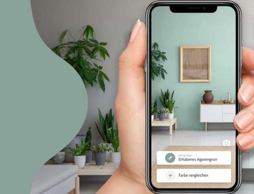 Virtuelle Farbe für die Wand