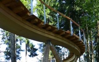60 Tonnen Stahl für ersten Baumwipfelpfad der Schweiz