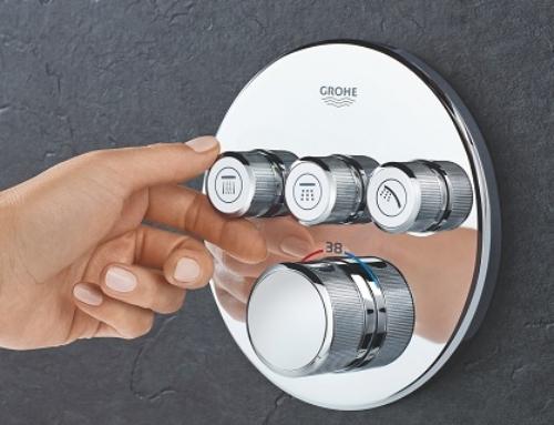 Smartes Design vor und hinter der Wand: GROHE SmartControl