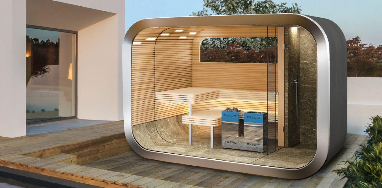 Sauna Im Freien entspannung im freien: modulare outdoor-sauna von küng - bauschweiz