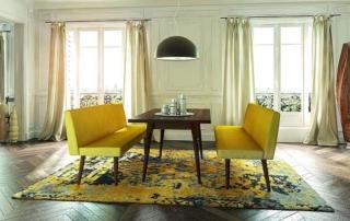Retro-Möbel zeichnen sich dabei vor allem durch ihre ausdrucksstarken Formen aus - geometrische, klare Linien treffen sanfte Kurven.