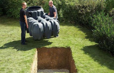 Sommerprojekt Regenwassertank