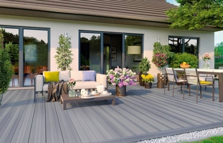 Terrassengestaltung Naturmaterial Holz